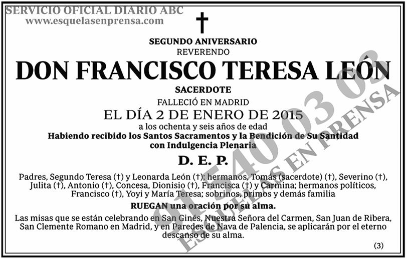 Francisco Teresa León
